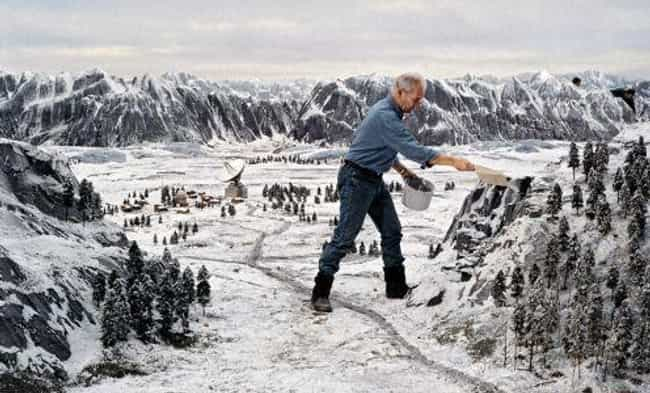 Siberia Gets Snowy For GoldenE... is listed (or ranked) 3 on the list 25 Epic Behind-The-Scenes Photos Of Famous Miniature Movie Sets
