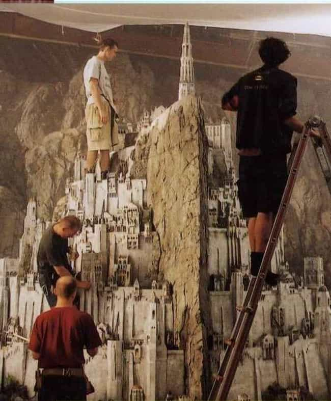 The Crew Scales Minas Tirith W... is listed (or ranked) 1 on the list 25 Epic Behind-The-Scenes Photos Of Famous Miniature Movie Sets