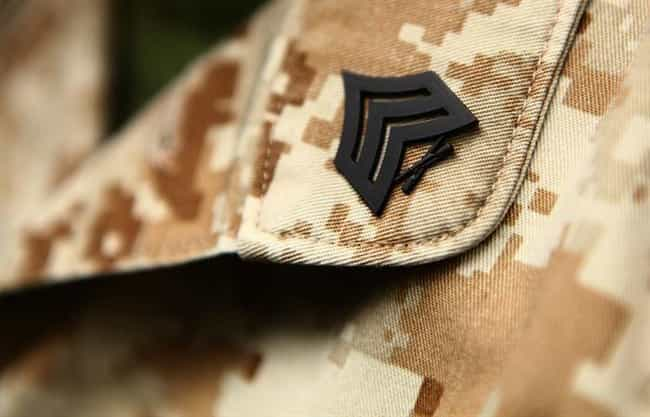 Rank Insignia is listed (or ranked) 4 on the list 9 Common Marine Tattoos and What They Mean