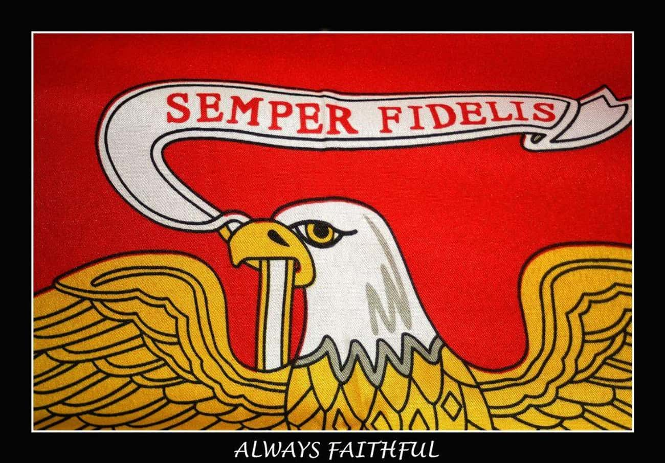Semper Fi is listed (or ranked) 3 on the list 9 Common Marine Tattoos and What They Mean