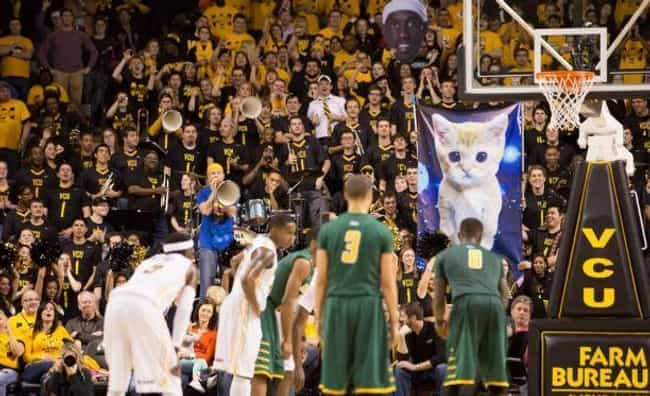 VCU: Virtual Cat Univers... is listed (or ranked) 3 on the list 23 Of The Funniest College Basketball Free Throw Distraction Signs