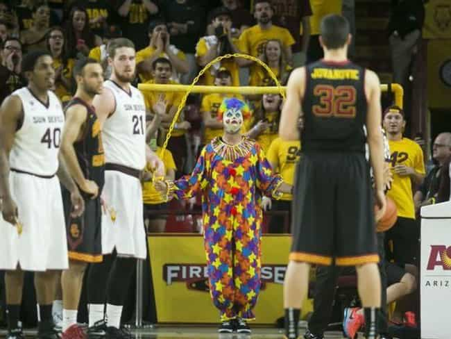 Send In The Clown is listed (or ranked) 1 on the list 23 Of The Funniest College Basketball Free Throw Distraction Signs