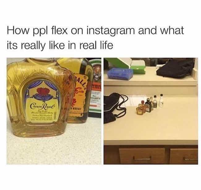 Bottle Serviced is listed (or ranked) 1 on the list The Funniest Instagram Vs. Real Life Memes