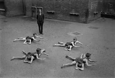 1920 – Students Learning To Swim Without Water