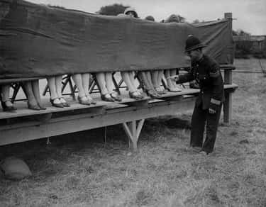 1930 – A Police Officer Judges An Ankle Competition