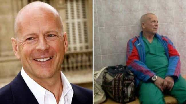 Bruce Willis' Homeless H... is listed (or ranked) 3 on the list Celebrities And Their Russian Doppelgangers