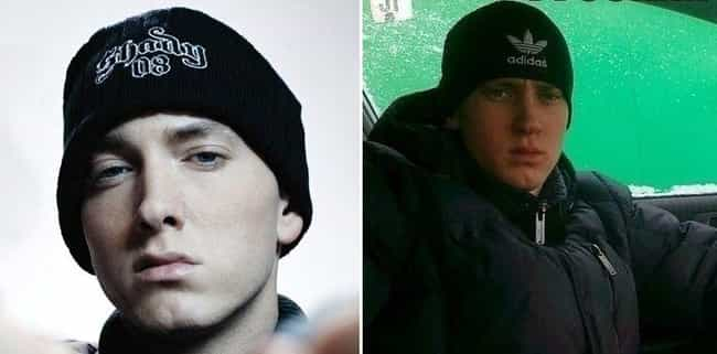 Lose Yourself In Eminem'... is listed (or ranked) 2 on the list Celebrities And Their Russian Doppelgangers