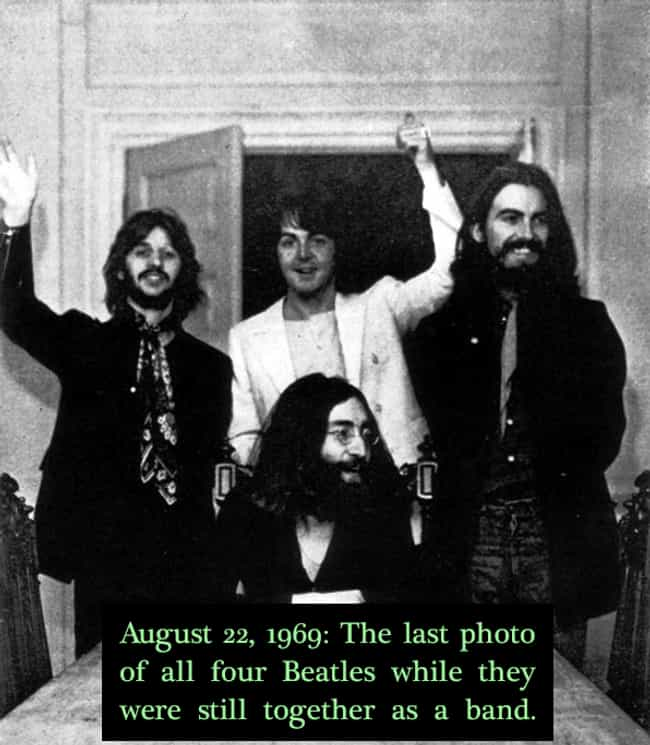 1969: The Beatles is listed (or ranked) 4 on the list 20 Rare Photos of World-Famous Celebrities In The 20th Century