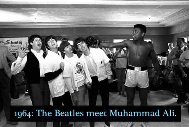 1964: The Beatles And Muhammad... is listed (or ranked) 4 on the list 20 Rare Photos of World-Famous Celebrities In The 20th Century