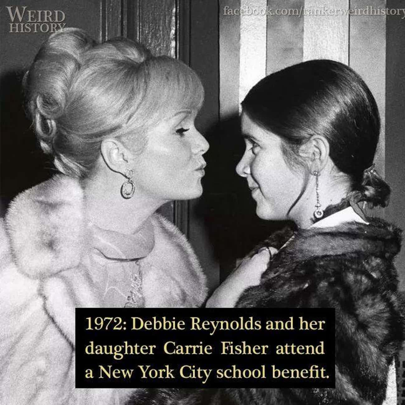 1972: Debbie Reynolds And Carr is listed (or ranked) 2 on the list 20 Rare Photos of World-Famous Celebrities In The 20th Century