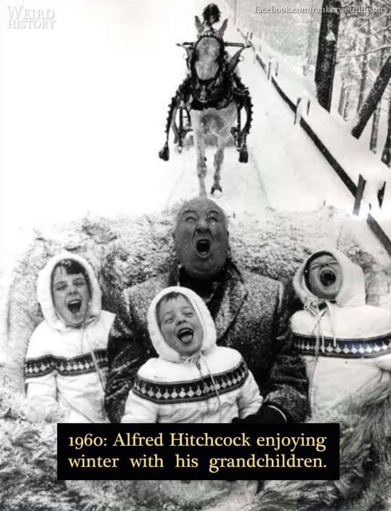 1960: Alfred Hitchcock is listed (or ranked) 3 on the list 20 Rare Photos of World-Famous Celebrities In The 20th Century