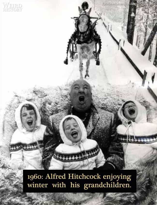 1960: Alfred Hitchcock ... is listed (or ranked) 3 on the list 20 Rare Photos of World-Famous Celebrities In The 20th Century