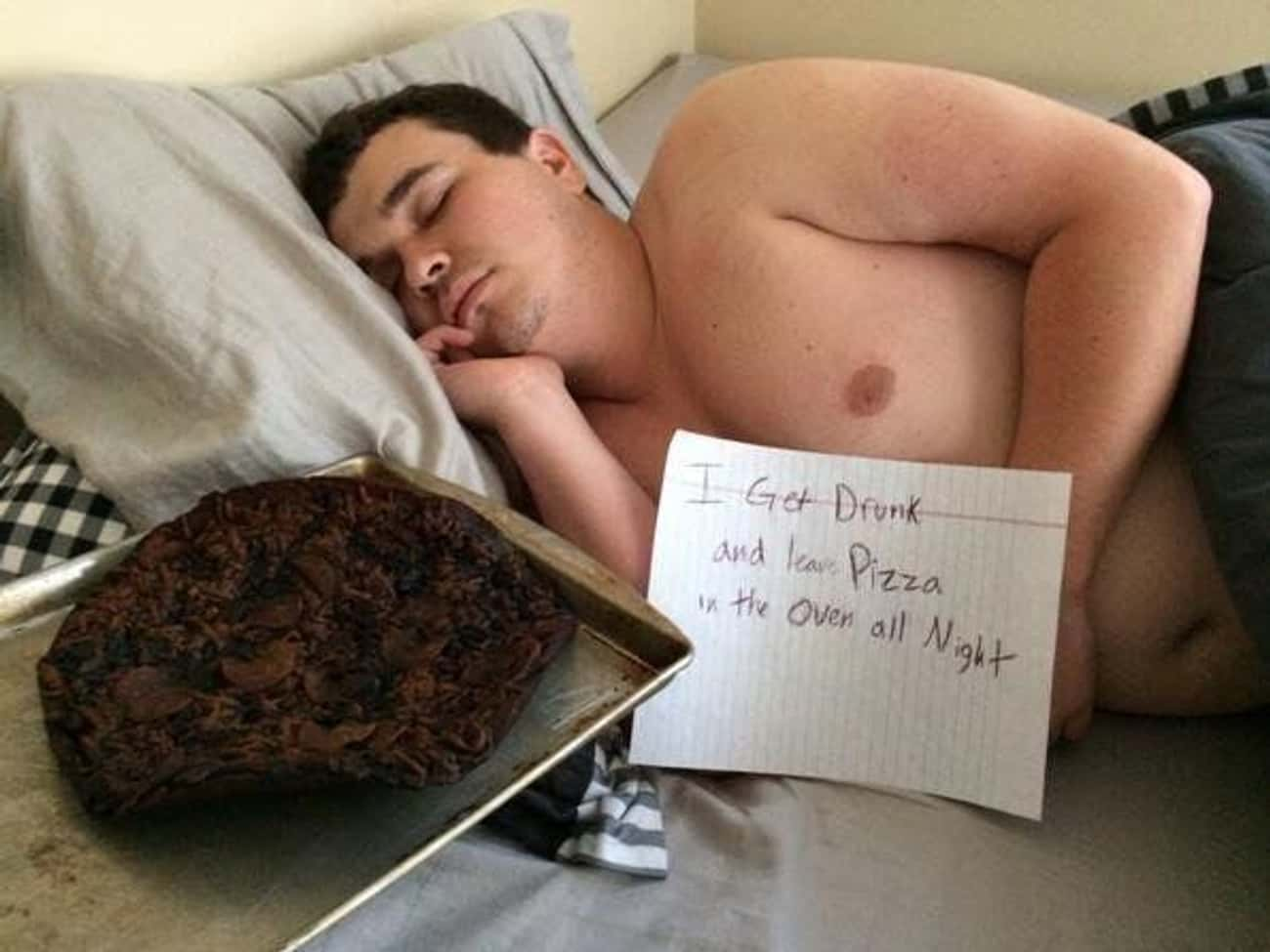 That Pizza Got Pwn'd is listed (or ranked) 3 on the list 23 Photos That Prove Cooking And Drinking Don't Mix