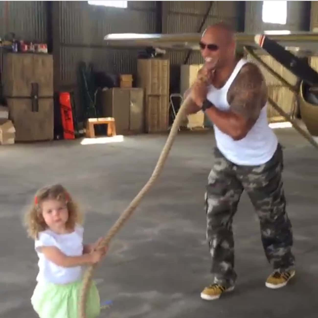 He Helped A Little Girl Pull A is listed (or ranked) 4 on the list 17 Times Dwayne 'The Rock' Johnson Was The Best