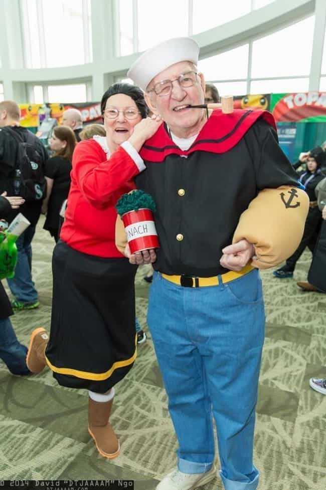 Popeye And Olive Oyl is listed (or ranked) 1 on the list 18 Older Cosplayers Who Prove That Age Is Just A Number
