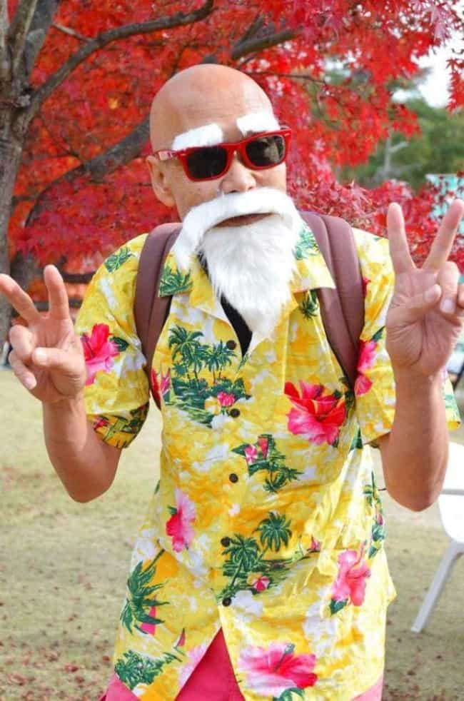 Master Roshi is listed (or ranked) 3 on the list 18 Older Cosplayers Who Prove That Age Is Just A Number