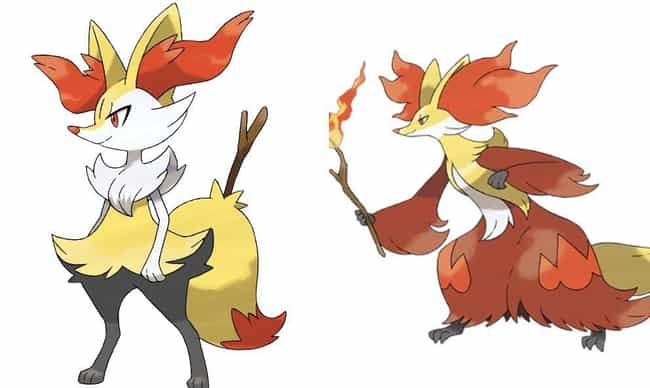 Braixen is listed (or ranked) 4 on the list 13 Pokémon Whose Middle Evolutions Are Cooler Than Their Final Forms