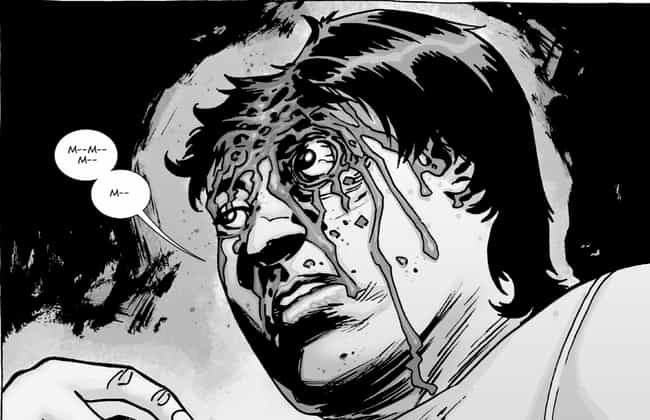Negan Beats Glen To Death is listed (or ranked) 3 on the list The 15 Most Insanely Gory Moments In Image Comics History