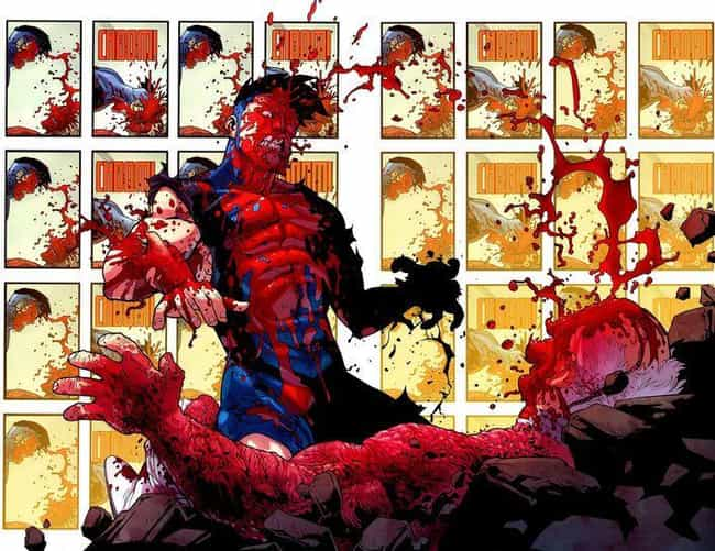 Invincible Headbutts A Guy To ... is listed (or ranked) 1 on the list The 15 Most Insanely Gory Moments In Image Comics History