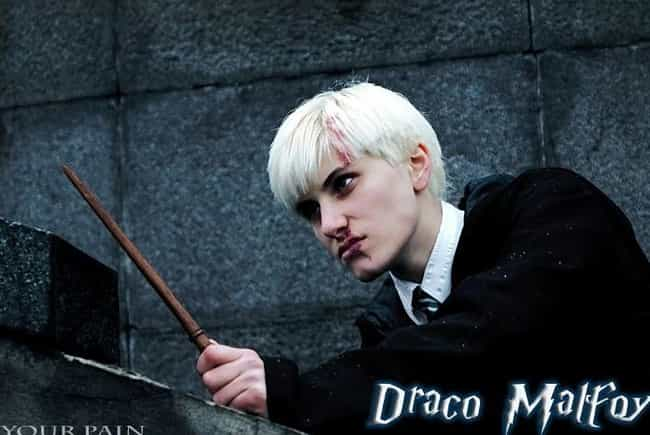 Draco Malfoy is listed (or ranked) 3 on the list Totally Magical Harry Potter Cosplay