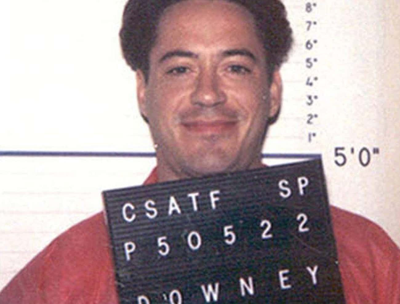 He Was Arrested For Driving Wi is listed (or ranked) 4 on the list Buckwild And Horrifying Things Robert Downey Jr. Somehow Made It Through