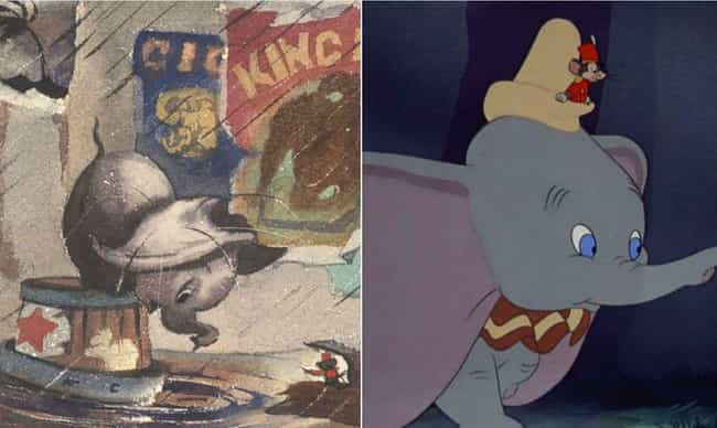 Dumbo's Ears Were Basicall... is listed (or ranked) 4 on the list Disney Concept Art That's Way Different Than What Ended Up In The Movie
