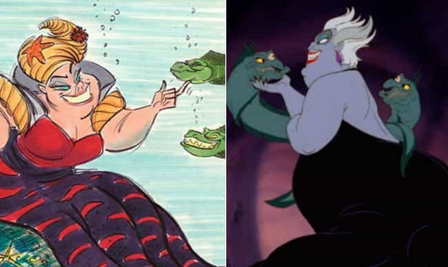 Ursula Used To Look Much Less ... is listed (or ranked) 2 on the list Disney Concept Art That's Way Crazier Than What Ended Up In The Movie