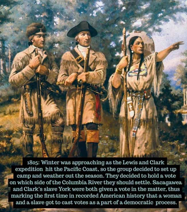 1805: Sacagawea Becomes ... is listed (or ranked) 3 on the list 17 Rare Photos of Unique Women Throughout History
