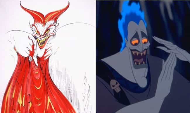 Hades's Hair Used To Be Re... is listed (or ranked) 4 on the list Disney Concept Art That's Way Crazier Than What Ended Up In The Movie