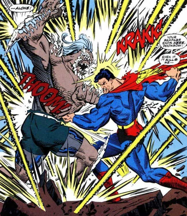OG Doomsday Is Smaller Than De... is listed (or ranked) 15 on the list 15 Of The Biggest Characters In Comic Books, Ranked From Smallest To Largest