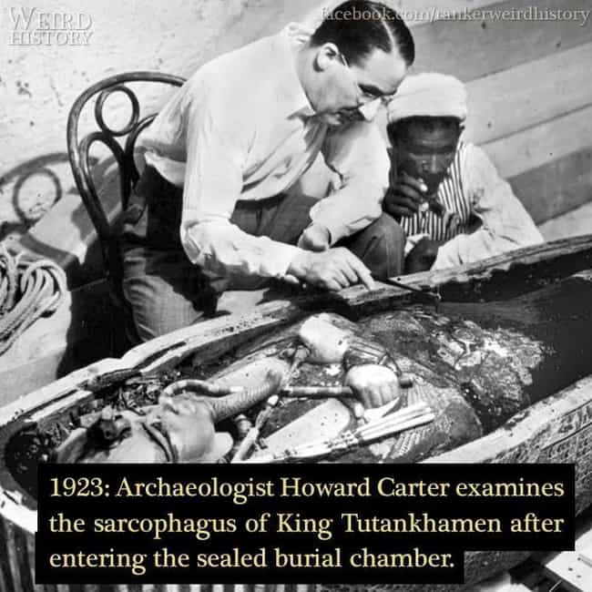 1913: Examining King Tut's Sar... is listed (or ranked) 4 on the list 26 Photos Capturing Bizarre Moments In Science Throughout History