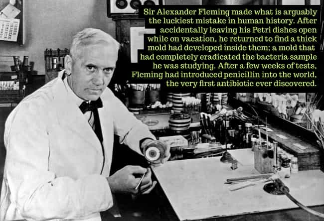 1928: Sir Alexander Fleming Di... is listed (or ranked) 3 on the list 26 Photos Capturing Bizarre Moments In Science Throughout History