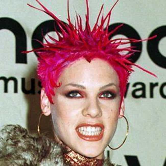 2000: Sky-High Spikes is listed (or ranked) 3 on the list The Evolution Of P!nk's Vibrant Hairstyles Over The Years