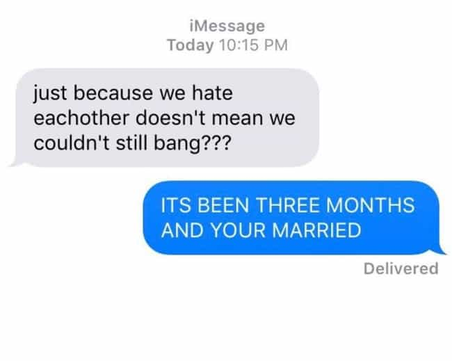 No Hate Sex, Just Hate ... is listed (or ranked) 1 on the list 28 Sad, Yet Hilarious Desperate Texts From Exes