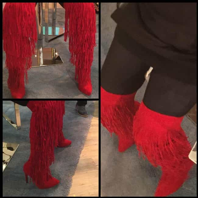 These Frilly Red Boots That Se... is listed (or ranked) 8 on the list Whoopi Has A Massive Shoe Collection And Each Pair Is Equally Confusing