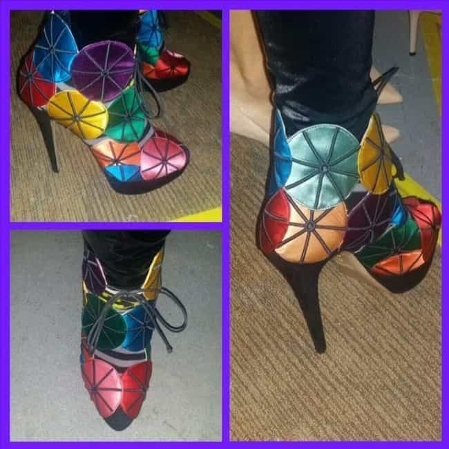 These Daring Stained-Glass Bea... is listed (or ranked) 1 on the list Whoopi Has A Massive Shoe Collection And Each Pair Is Equally Confusing