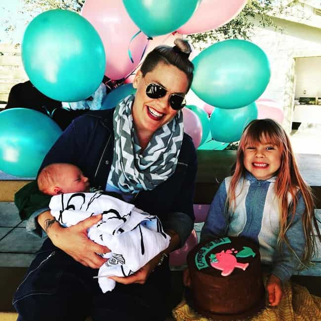 She Knows How To Color-C... is listed (or ranked) 1 on the list 23 Photos That Prove P!nk Is The Coolest Mom In Hollywood