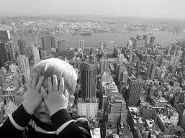 Heights is listed (or ranked) 1 on the list 13 Things That Are Instinctively Scary To Humans (And Why)
