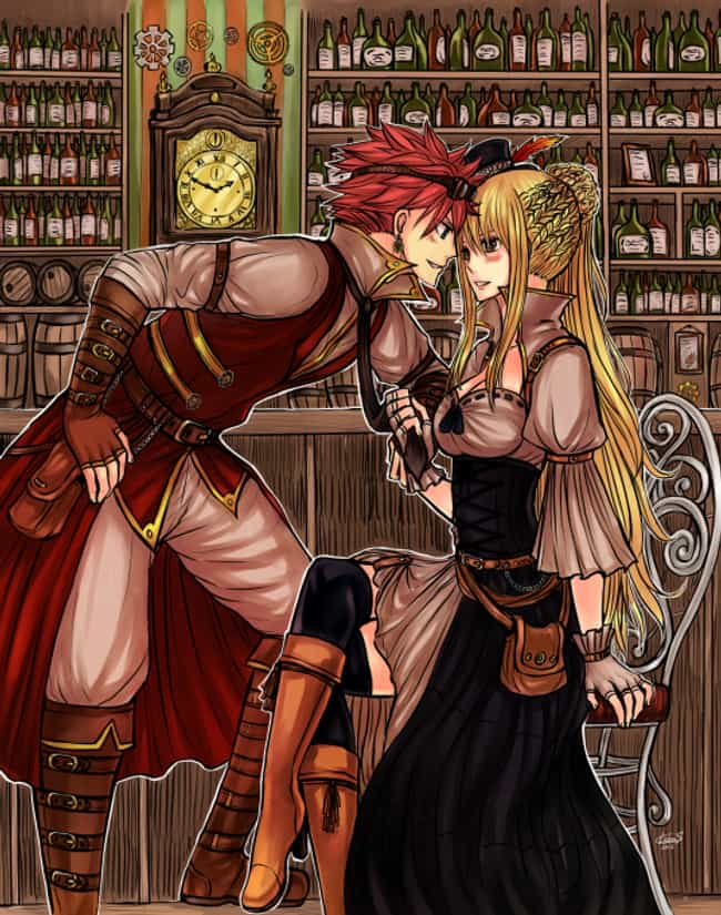 Natsu And Lucy, Fairy Tail is listed (or ranked) 2 on the list 22 Steampunk Versions Of Your Favorite Anime Characters