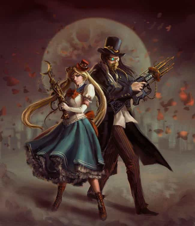 Sailor Scouts, Sailor Moon is listed (or ranked) 11 on the list 22 Steampunk Versions Of Your Favorite Anime Characters
