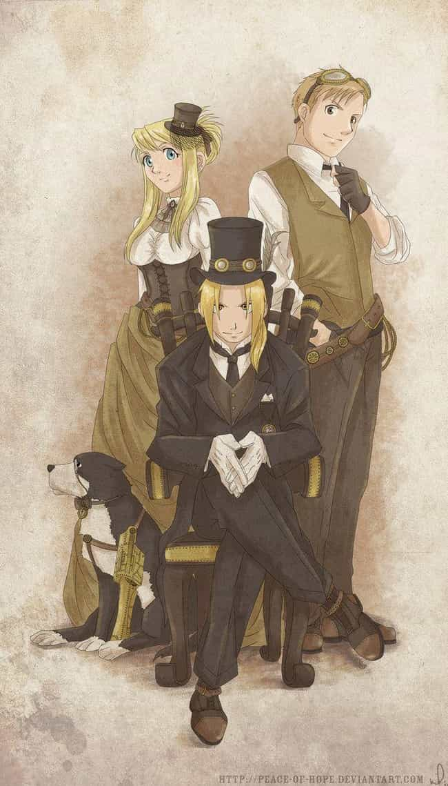 Fullmetal Alchemist Trio is listed (or ranked) 1 on the list 22 Steampunk Versions Of Your Favorite Anime Characters