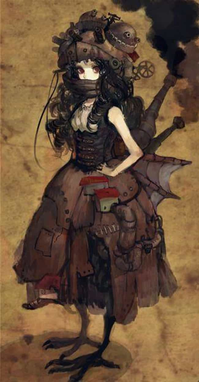 Howl's Moving Castle is listed (or ranked) 8 on the list 22 Steampunk Versions Of Your Favorite Anime Characters