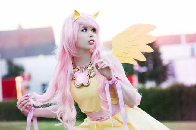 Fluttershy is listed (or ranked) 1 on the list My Little Pony Cosplay That Doesn't Horse Around