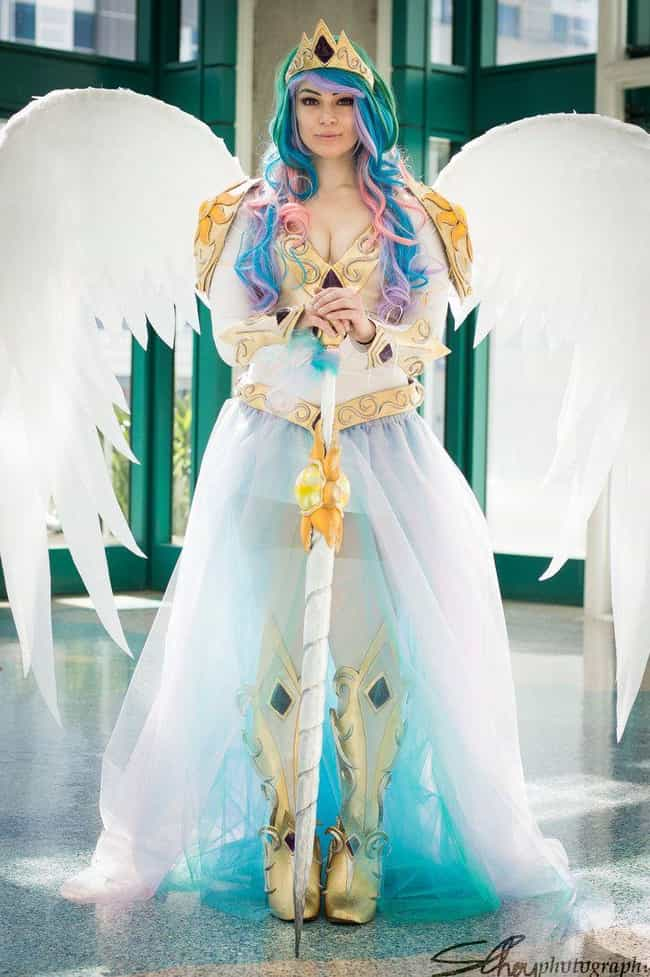Princess Celestia is listed (or ranked) 3 on the list My Little Pony Cosplay That Doesn't Horse Around