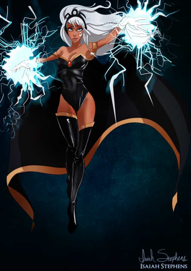 Kida / Storm is listed (or ranked) 3 on the list 20 Pieces Of Outstanding Disney/Marvel Mashup Fan Art