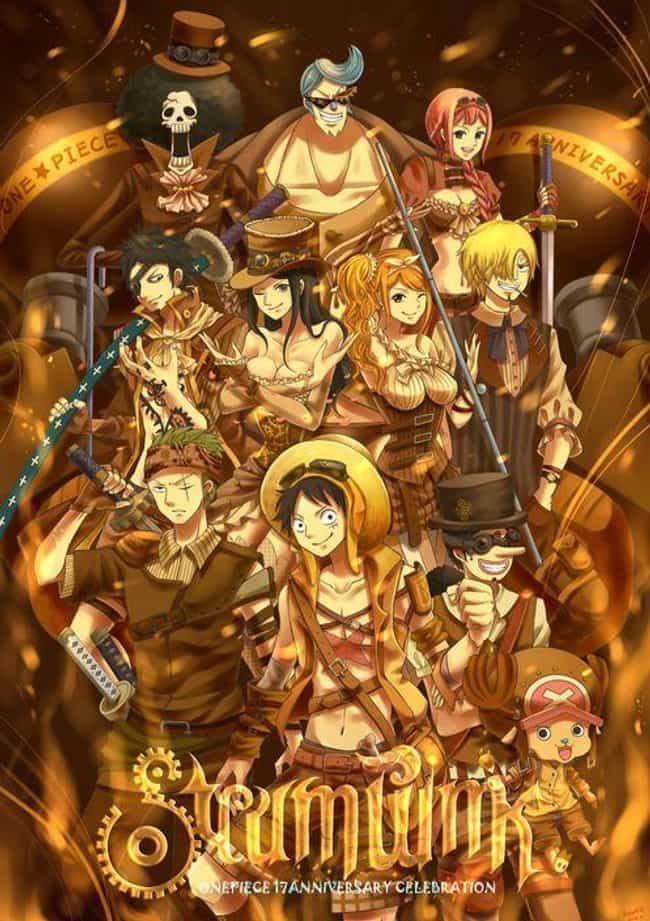 One Piece Cast is listed (or ranked) 9 on the list 22 Steampunk Versions Of Your Favorite Anime Characters