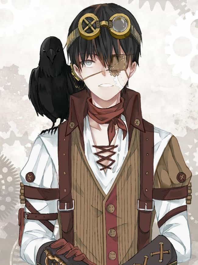Kaneki, Tokyo Ghoul is listed (or ranked) 5 on the list 22 Steampunk Versions Of Your Favorite Anime Characters