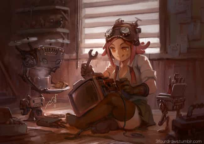 Mei, My Hero Academia is listed (or ranked) 3 on the list 22 Steampunk Versions Of Your Favorite Anime Characters