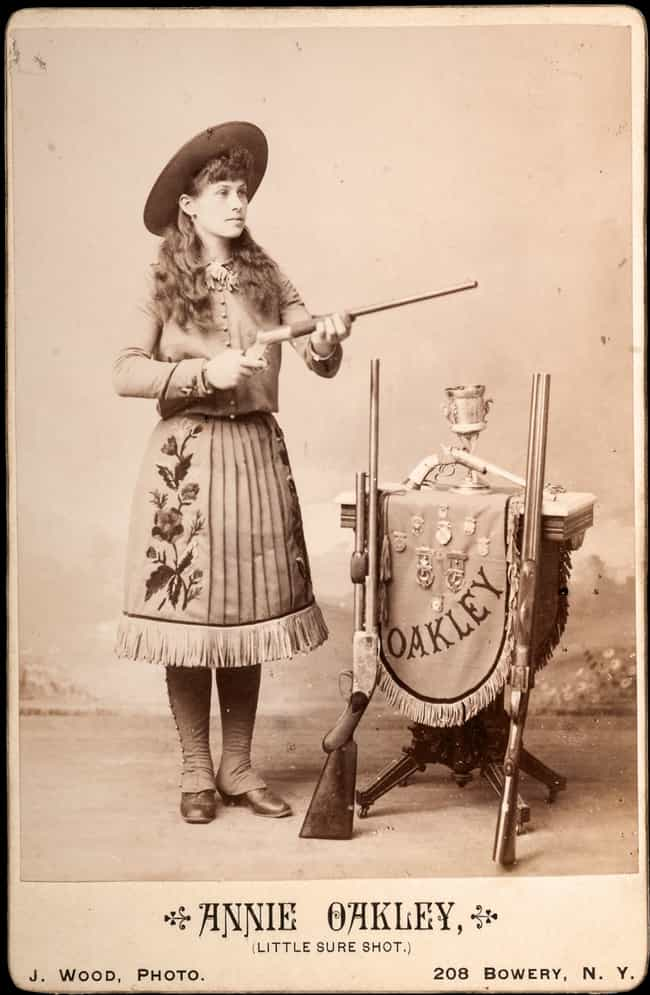 She Could Shoot A Playing Card... is listed (or ranked) 4 on the list 15 Badass Facts About Annie Oakley That Prove She Could Outshoot Any Man