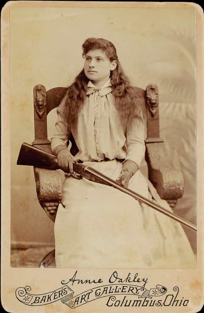 She Out-Shot A Traveling Marks... is listed (or ranked) 3 on the list 15 Badass Facts About Annie Oakley That Prove She Could Outshoot Any Man
